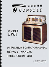 MANUALE COMPLETO  (manual) JUKEBOX SEEBURG LPC1 (juke box)