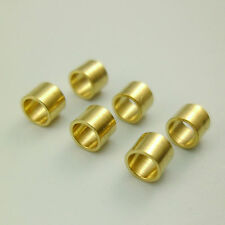 50pcs 4mm Yellow Raw Brass Geometry Tube Beads Charms Leather Rope 3mm Hole