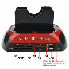 HDD Docking Station Dual USB 2.0 2.5/ 3.5 Inch IDE SATA External HDD Box FE