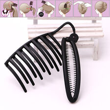 1Pc Durable Plastic Black Hair Style Bang Dish Tool Hairpin Plug Hair Accessory