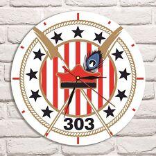 Reloj De Pared diseño de color de logotipo escuadrón 303 Disco De Vinilo Coleccionista de oficina en el hogar 3