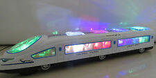 "18""LARGE BULLET TRAIN & CARRIAGES - ELECTRIC TOY  LIGHTS SOUNDS -BOY GIRL - UK"