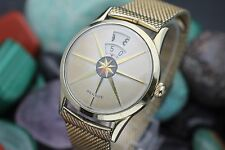 "Vintage BENRUS ""Dial-O-Rama"" Gene Vincent ""Rockabilly"" 10K R.G.P Jump Hour Watch"