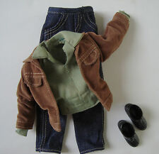 BARBIE/ KEN Clothes/Fashions/Outfit/Shirt,Pants,Suede Jacket,Shoes NEW!