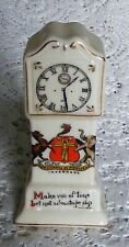 Inverness  Crested  Swan  China  Miniature  Grandfather  Clock   C.  Ford  c1900