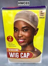 RED BY KISS STOCKING WIG CAP  BEIGE COLOR 2 CAPS IN A PACK ONE SIZE HWC03