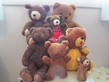 Lot 7 Vintage Antique Plush Teddy Bear some condition issues