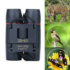 30 x 60 Zoom Day Night Vision Outdoor Travel Folding Binoculars Telescope + Case
