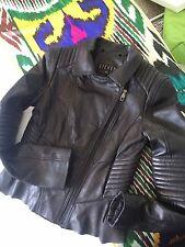 Steve Madden 100%Genuine Soft Leather Elaborate Jacket, Peplum Back, Chic Moto