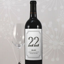 24 Classic Personalized Wedding Table Numbers Wine Bottle Labels Stickers Q17124