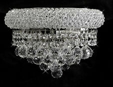 "Palace Bangle 12""  Crystal chandelier  Wall sconce light Chrome  fixture"