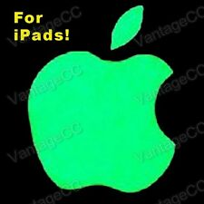 Apple Logo GLOW IN THE DARK Vinyl Sticker Label, for iPad, Luminescent 2 3 4 Air