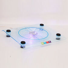 "USB Large Fan LED Light Cooling Cooler Pad for 14-16"" Notebook Laptop PC Blue HK"