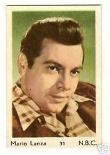 Mario Lanza #31 - Maple Leaf Gum Card Large Size