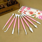 8pcs Cake Decorating Fondant Flower Modelling Craft Clays Sugarcraft Tool Cutter