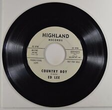 "ed lee 7"" 45 country boy/part II   wl promo  45-1161   vg+"