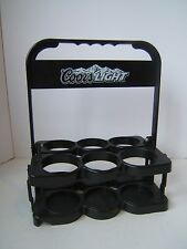 Plastic Collapsible 6 Beer Holder Serving Caddy Carrier Molson Coors Barware