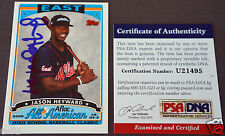 JASON HEYWARD Rare High School Autograph Signed 2006 TOPPS AFLAC RC PSA/DNA Auto