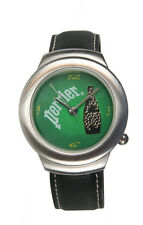 Perrier Unisex Silver-Tone Liquid Filled Promotional Watch. New and Unworn.