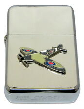 Spitfire Aeroplane Lighter with Gift Tin Emblem NO FUEL INC RAF Smoking WW11