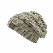 Women's CC Beanie Cap oversize Thick Caps Knit Hat Slouch Unisex Winter Hats