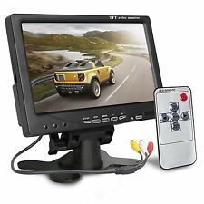 "7"" HD TFT LCD CCTV Camera Monitor Remote Control Display Screen Best US Stock"