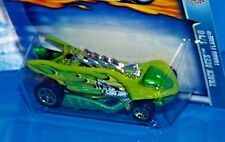 Hot Wheels 2003 Track Aces Series #125 Turbo Flame Green & Light Green w/ 5SPs