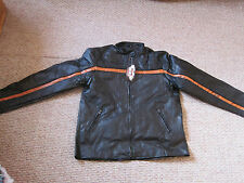 Hawg Hides Genuine Black Leather Motorcycle Jacket XL zip out lining NWT
