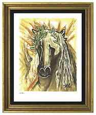 "Salvador Dali Signed & Hand-Numbered Ltd Ed ""Horse of Spring "" Lithograph Print"