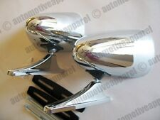 CHROME SPORT MIRRORS MUSCLECAR RESTOMOD HOTROD LOW RIDER CLASSIC PAIR KIT