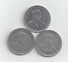 3 - 1 RUPEE COINS from MAURITIUS (1991, 2002 & 2004).