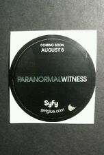 "PARANORMAL WITNESS SYFY B&W SHOW TV SMALL 1.5"" GETGLUE GET GLUE STICKER"