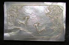 Antique French Victorian Carved Mother of Pearl Souvenir Notebook ca 1860