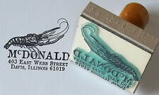 Custom Lobster Address, Ex Libris or bookplate rubber stamp by Amazing Arts