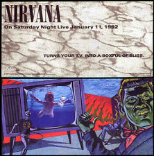 NIRVANA REPRO SATURDAY NIGHT LIVE PROMO POSTCARD . KURT COBAIN NEVERMIND