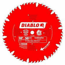 "Freud Diablo 10"" 50-tooth ATB Combination Saw Blade 5/8"" Arbor Miter Table Saw"