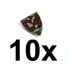 Lego 10x Ritterschild mit Stadtwappen Shield Triangular Town Hall Neu Castle