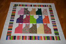 Scrappy Cats Baby Quilt Top or Lap Blanket