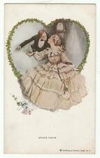 "Harrison Fisher Signed Postcard Glamorous Lady ""Undue Haste"" R&N 193"