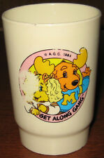 "* Vintage Get Along Gang 3.5"" Tall Plastic Drinking Glass"