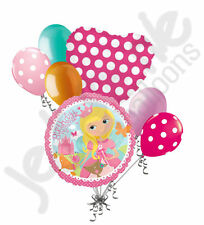 7pc Woodland Princess Fox Animal Happy Birthday Balloon Bouquet Party Decoration