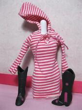 CELEBRITY BARBIE DOLL TAYLOR SWIFT HOODIE  DRESS/COWBOY BOOTS PRETTY IN PINK SET