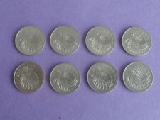 50 Cents 1981 Singapore Lion Fish Coin - 8 Pieces