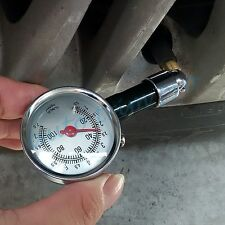 Truck Bicycle Air Tyre Tire Pressure Gauge Safety Dial Meter Tester Accessories