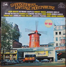 CHANSONNIERS... CAPITALE MONTMARTRE MOULIN ROUGE CARS COVER FRENCH LP
