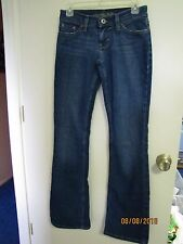 EUC AMERICAN EAGLE Ladies Med Denim Long Stretch HIPSTERS Blue Jeans 02 Long