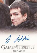 "Game of Thrones Season 4 - Josef Altin ""Pypar"" Auto / Autograph Card"