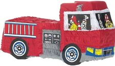 Fire Engine Truck Pinata - Boys Fire Fighter Themed Birthday Party Supplies
