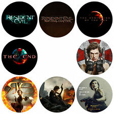 """8pc Resident Evil 6:The Final Chapter Pin Back Pin Button Badge pinback 1"""" 25mm"""