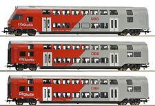 """Roco H0 64140 ÖBB Doppelstockzug-Set """"City Shuttle"""" mit Steuerwagen - NEU + OVP"""